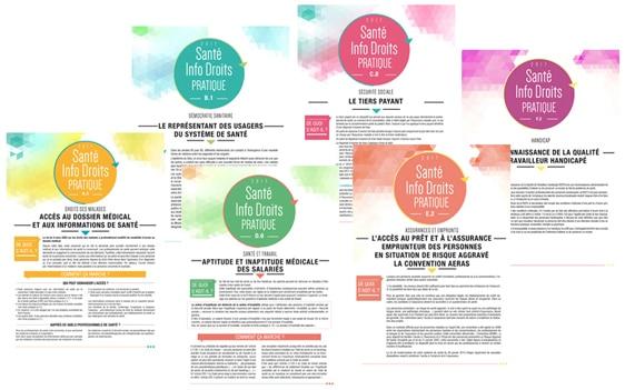 visuels de fiches Santé Info Droits
