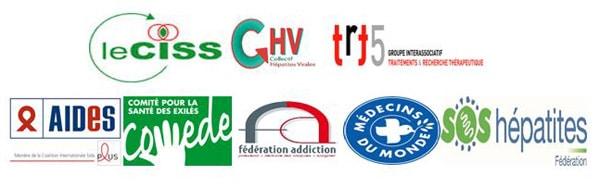 logos signataires du communique sur traitements contre hepatite C