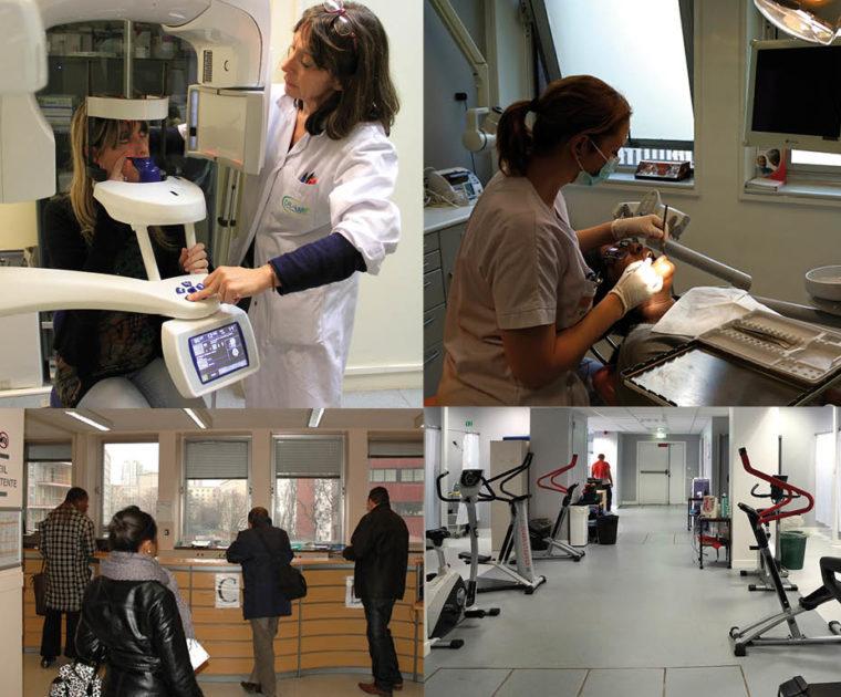 Visite du centre de santé CRAMIF à Paris 19ème (Stalingrad)