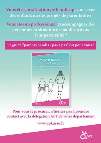 Affiche promotion guide parents Handis pas à pas