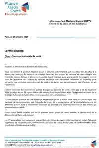 lettre ouverte à Mme Agnes Buzyn