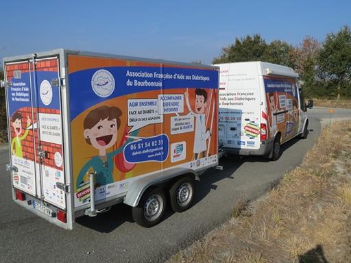 Camion itinérant diabète dans l'Allier